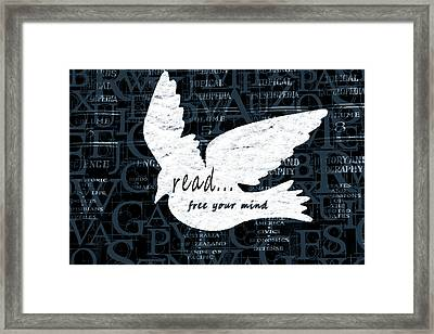 Read Free Your Mind Teal Framed Print by Angelina Vick