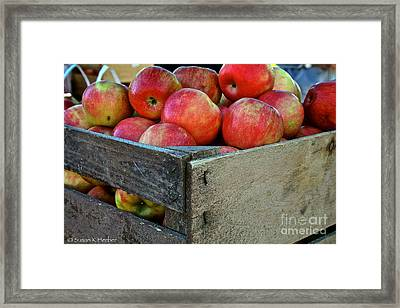 Ready To Eat Framed Print by Susan Herber