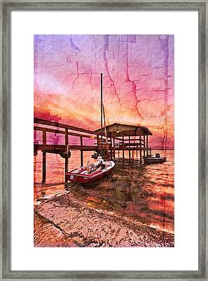 Ready To Sail Framed Print by Debra and Dave Vanderlaan