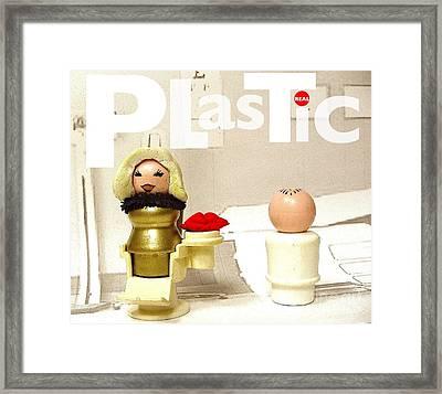 Real Plastic Framed Print by Ricky Sencion