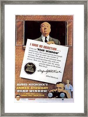 Rear Window, Alfred Hitchcock, James Framed Print by Everett
