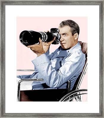 Rear Window, James Stewart, 1954 Framed Print by Everett