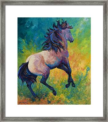 Rearing To Go Framed Print by Marion Rose