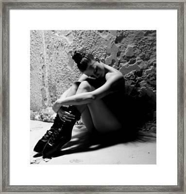 Rebel Ballerina Framed Print by Clarisa Steyn