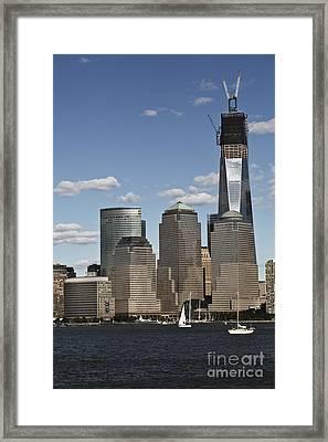 Rebuild Framed Print by Leslie Leda