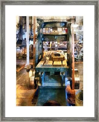 Reciprocating Flatbed Planer Framed Print by Susan Savad