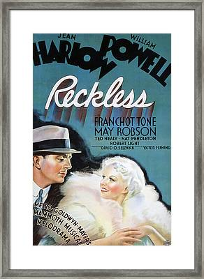 Reckless, William Powell, Jean Harlow Framed Print by Everett