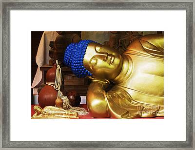 Reclining Buddha Statue Framed Print by Jeremy Woodhouse