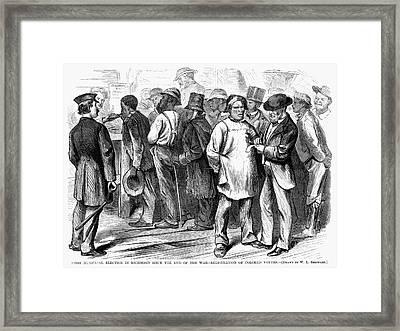 Reconstruction, 1870 Framed Print by Granger