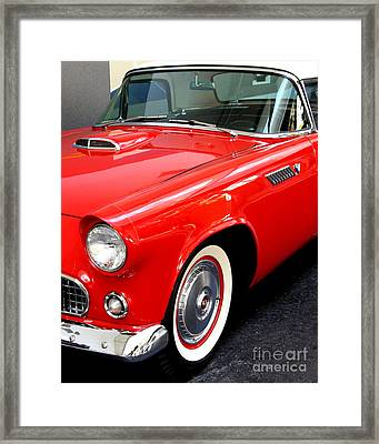 Red 1955 Ford Thunderbird Framed Print by Wingsdomain Art and Photography