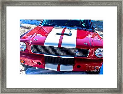 Red 1966 Mustang Shelby Framed Print by James BO  Insogna