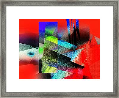 Red Abstract 1 Framed Print by Anil Nene