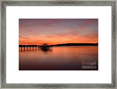 Red Autumn Sky Framed Print by Margaret Palmer