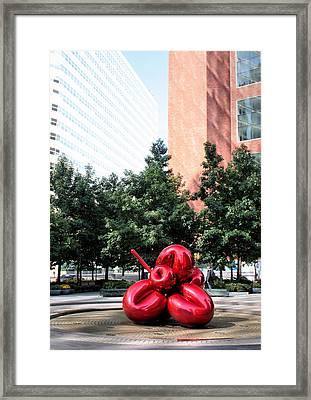 Red Balloon Flower Framed Print by Kristin Elmquist