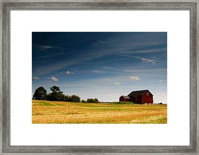 Red Barn Framed Print by Cale Best