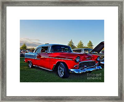 Red Bel Air Framed Print by Larry Simanzik