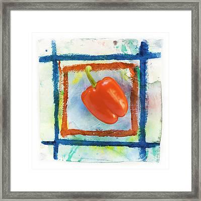 Red Bell Pepper Framed Print by Igor Kislev