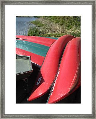 Red Boats Framed Print by Todd Sherlock