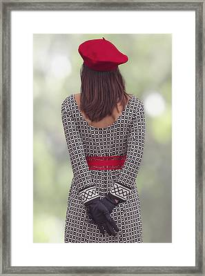 Red Cap Framed Print by Joana Kruse