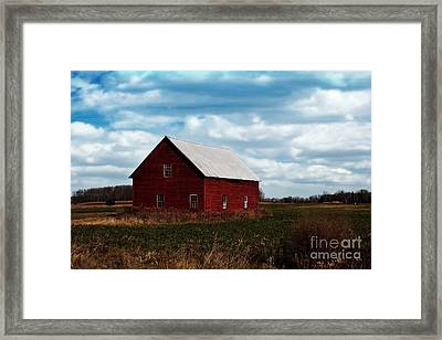 Red Counrty Barn Framed Print by Ms Judi