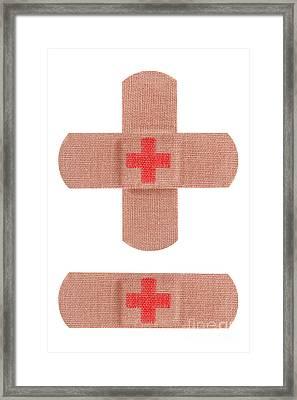 Red Cross Bandages Framed Print by Blink Images
