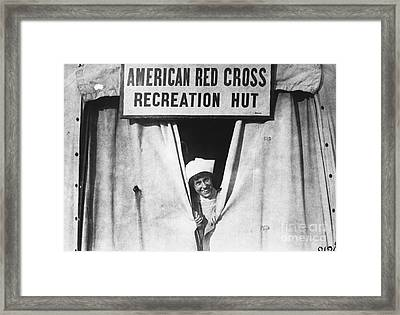 Red Cross Nurse, 1918 Framed Print by Photo Researchers