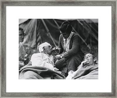 Red Cross Worker Miss Anna Rochester Framed Print by Everett