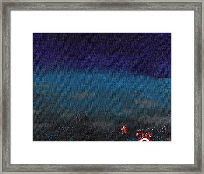 Red Cyclops Range Framed Print by Jera Sky