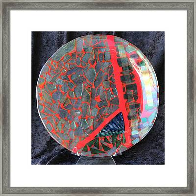 Red Divisions Framed Print by Thomas Mogensen