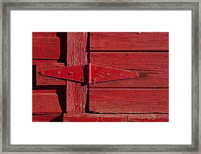Red Door Henge Framed Print by Garry Gay