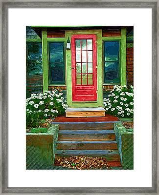 Red Door Framed Print by Susan Lee Giles