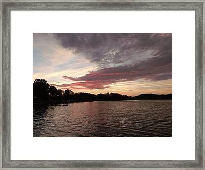 Red Dragon Lake Framed Print by Brian  Maloney