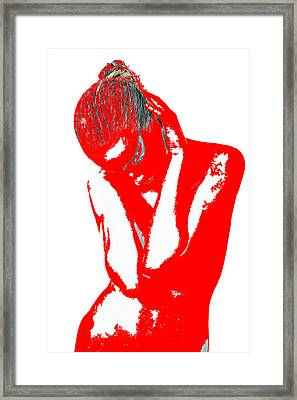 Red Drama Framed Print by Naxart Studio