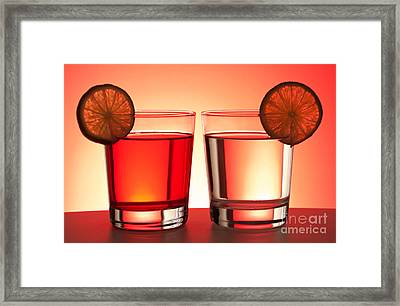 Red Drinks Framed Print by Blink Images