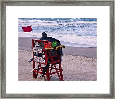 Red Flag Day Framed Print by Roger Wedegis