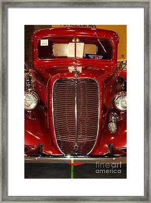 Red Ford Framed Print by Susanne Van Hulst