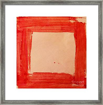 Red Frame   Framed Print by Igor Kislev