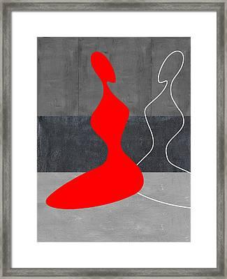 Red Girl Framed Print by Naxart Studio