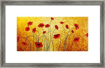 Red Gold Framed Print by Irena Sherstyuk