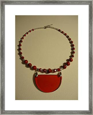 Red Happiness  Framed Print by Jenna Green