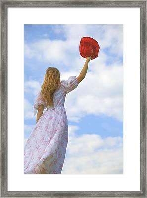 Red Hat Framed Print by Joana Kruse