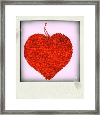Red Heart Framed Print by Bernard Jaubert