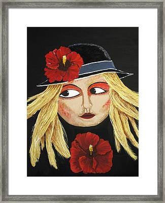 Red Hibiscus Framed Print by Susan McLean Gray