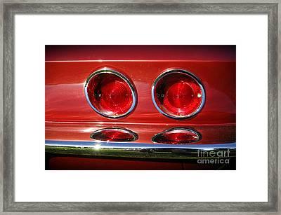 Red Hot Vette Framed Print by Luke Moore