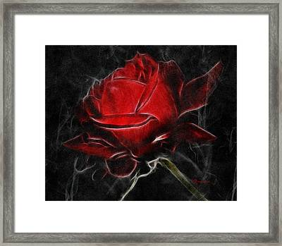 Red And Hot  Framed Print by Georgiana Romanovna