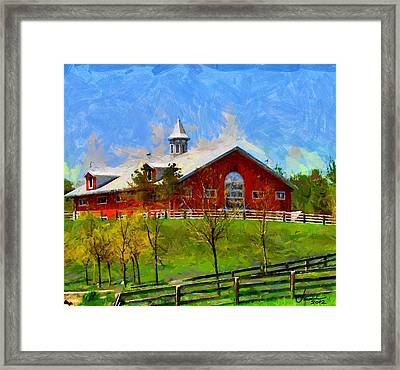 Red House In Caledon Tnm Framed Print by Vincent DiNovici