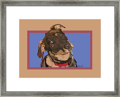Red II Framed Print by Kris Hackleman