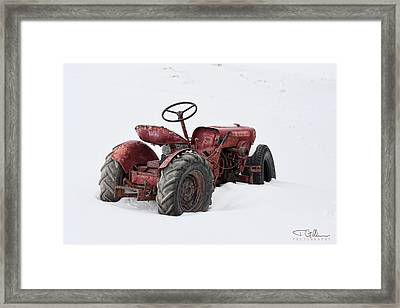 Red Framed Print by Joshua Gillum