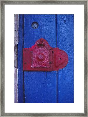 Red Latch Framed Print by Bob Whitt