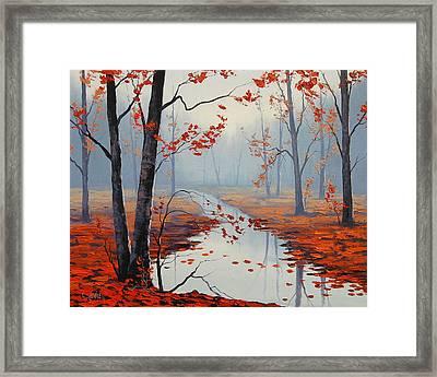 Red Leaves Framed Print by Graham Gercken